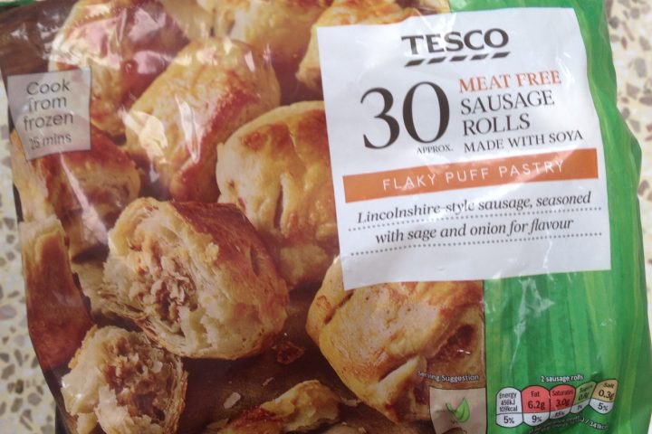 Tesco 30 Meat Free Sausage Rolls, £1.75 per pack