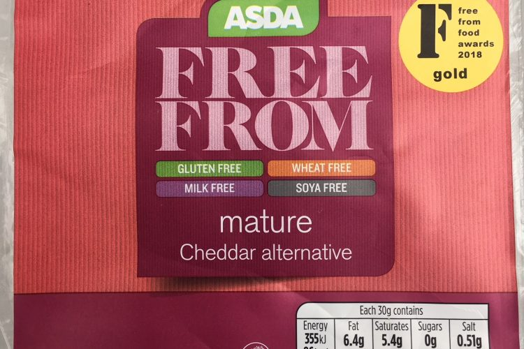 "Asda Free From Mature Cheddar Alternative When is a Quaver not a Quaver? When it's a lump of ""cheese""."