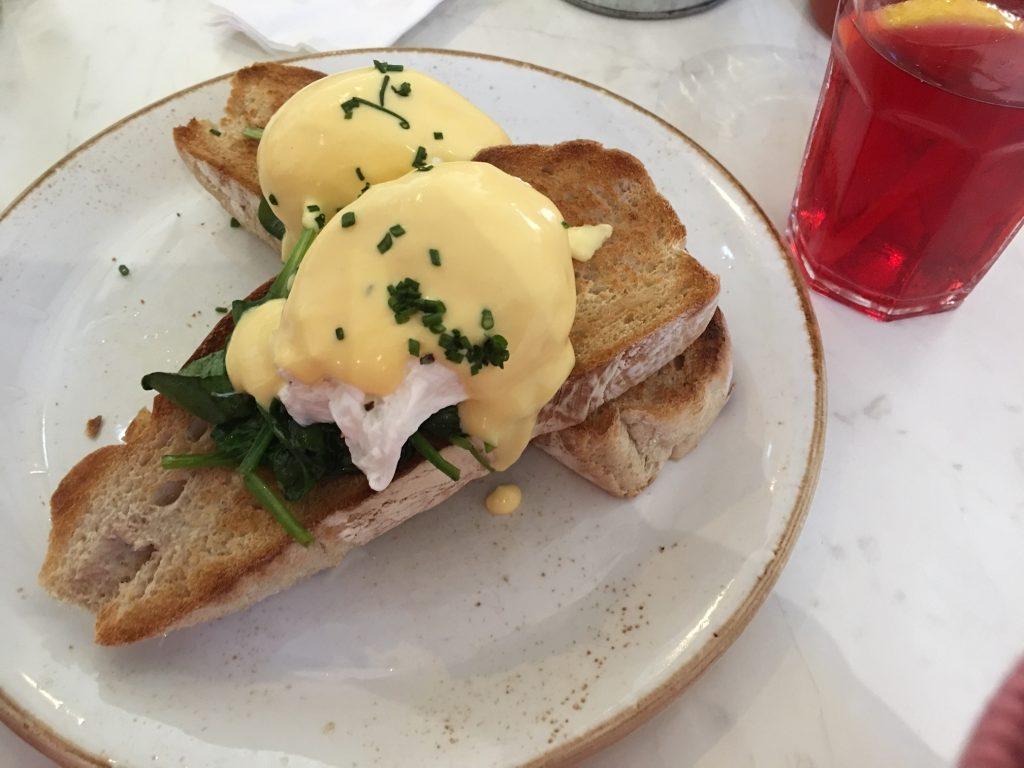 Eggs Florentine - a Lunchtime Banger