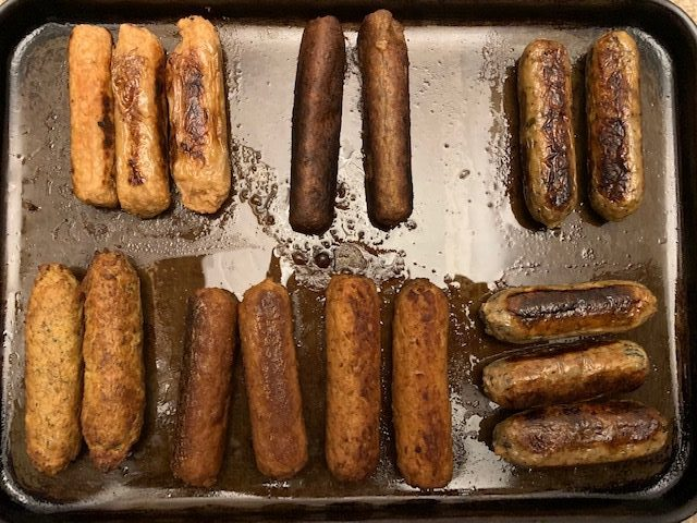 Cooked Veggie Sausages